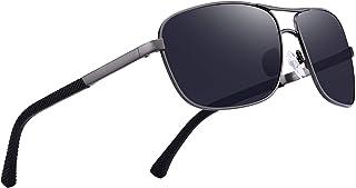 Men Classic Rectangle Sunglasses HD Polarized Sun glasses For Driving TR90 Legs UV400