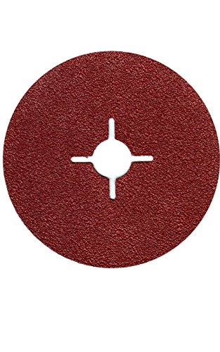 50X Discos de fibra (Hoja lija 125mm grano = 40para amoladora angular