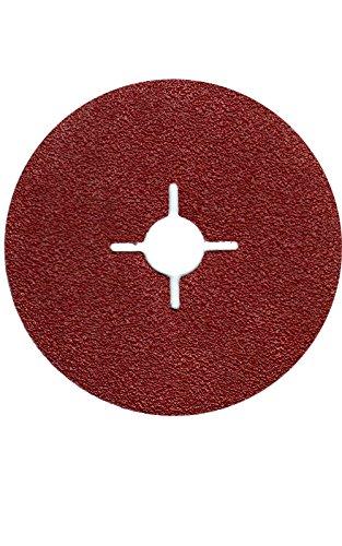 50er Pack Fiberscheiben 125mm Körnung 24-180 Schleifpapier Schleifblatt für Winkelschleifer (DM 125 mm Körnung = 80)
