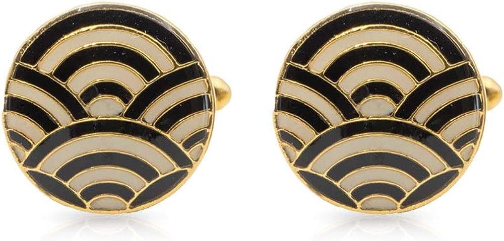 Super sale period limited lowest price Rosec Jewels Enamelled Groomsmen Brass Cufflinks Cas Him Unique