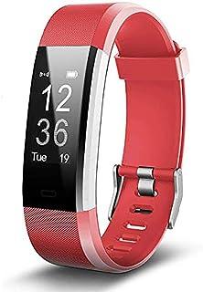 Mettime Brazalete de Fitness con pulsómetro, podómetro Reloj Pulso Reloj Fitness Trackers Resistente al Agua IP67podómetro