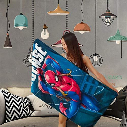 Mdsfe Lindo Punto de Cruz bebé algodón Toalla de Playa Suave Absorbente y Transpirable niños Adultos Toalla de Playa Manta Alfombra de Regalo - Spider-Man, 120x60cm