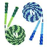 Cuerda de Saltar 2 Piezas Cuerda de Saltar Cordón Suave Fitness Cuerda Ajustable con Perlas de TPU Suave Cuerda Premium Sin enredos para HIIT, Entrenamiento Ligero. (2.8m)