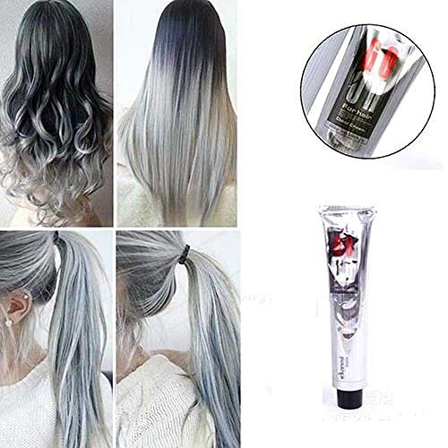 NIUHAIQING Neue 1PC 100ML Mode Hellgraue Farbe Natur Permanente Super Haarfärbemittelcreme
