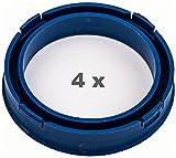 4 x Zentrierringe 73.1mm auf 57.1 mm blau / blue