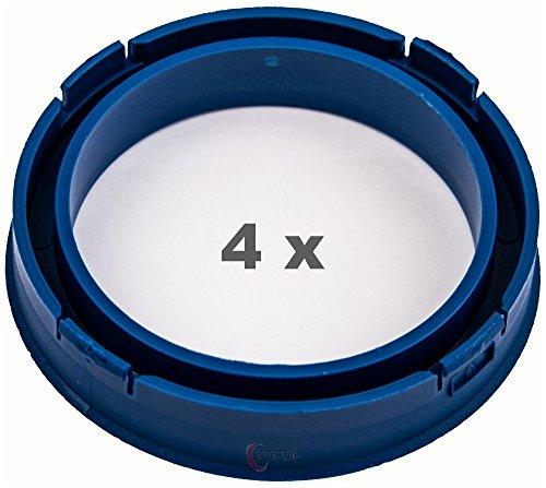 4x Anillo Central 73.1mm a 57.1mm azul/blue
