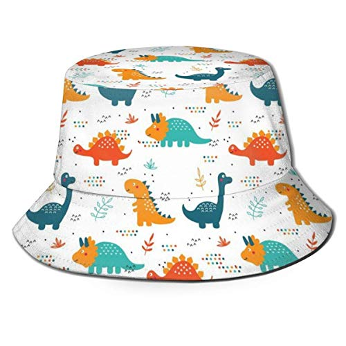 keben Bucket Hat Bucket Hats Custom Dinosaur Bicycle Geometric Pattern Unisex Bucket Hats Printed Packable Sun Hat Summer Casual Travel Beach Fishing Hat UV Sun Protection Fisherman Caps Black