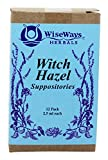 WiseWays Herbals Witch Hazel Suppositories 12 Count