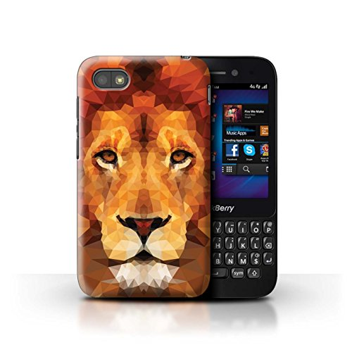 Handy Hülle kompatibel mit BlackBerry Q5 Geometrisches Tier Tierwelt Afrikanischer Löwe Transparent Klar Ultra Dünne Handyhülle Hülle Cover