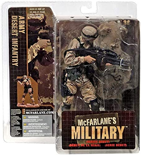 ARMY DESERT INFANTRY  CAUCASIAN VARIATION  McFarlane's Military Series 1 Action Figure & Display Base by McFarlanes Military