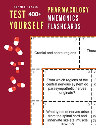 Test Yourself 400+ Pharmacology Mnemonics Flashcards: Practice pharmacology flash cards for exam preparation