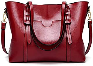حقيبة حمل للكمبيوتر المحمول من اميرتير، حقائب يد جلدية كلاسيكي، حقائب كتف بمقبض علوي، حقيبة كتف يومية كبيرة سعة 15.6 إنش