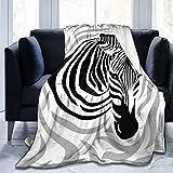 Romance-and-Beauty Microfleece Decke Zebra Kopf Streifen gedruckt Ultra Soft Lightweight Cosy Warm...