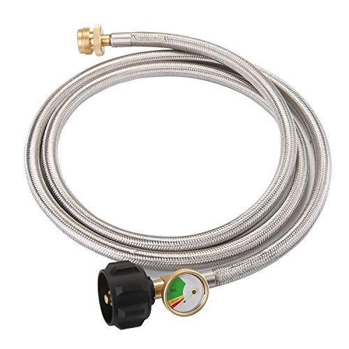 WADEO 6 FT Stainless Steel Braided Propane Adapter Hose with...