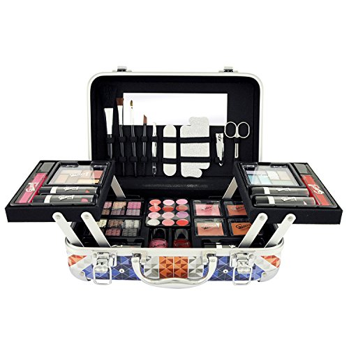 Gloss! Gift Set - Make-Up Set - Make Up Case London Diamonds - 50pcs - Gift box, Christmas gift, gift for women, make-up box