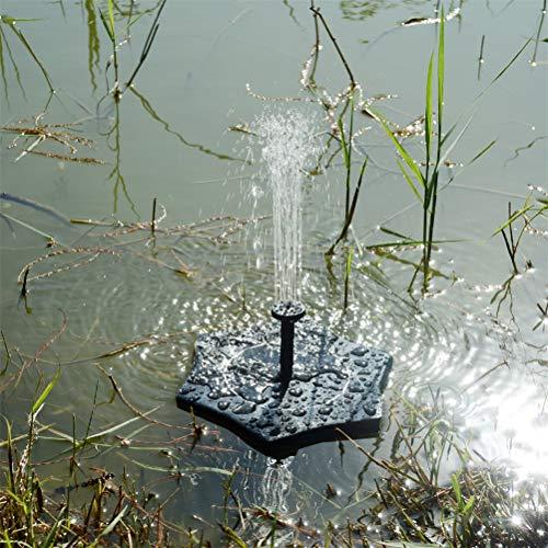 GFYWZ 1.4W Pompe à Flotteur à Eau Solaire extérieure pour Bain d'oiseau, Petit étang et réservoir de Poissons, Ensemble de Fontaine d'étang de Jardin de Fontaine