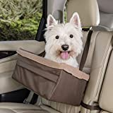 PetSafe Happy Ride Booster Seat - Dog Booster Seat for Cars, Trucks and SUVs - Easy to Adjust Strap - Durable Fleece Liner is Machine Washable and Easy to Clean - Extra Large, Brown