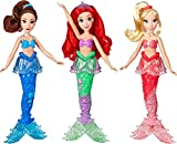 Disney Princess Ariel & Sisters Fashion Dolls, 3 Pack of Mermaid Dolls with Skirts & Hair Accessories, Toy for 3 Year Olds & Up