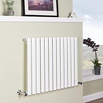 Sand Grey Designer Radiator Horizontal Flat Panel for Bedroom Kitchen Bathroom