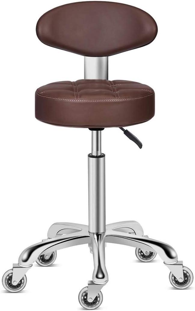 爆買いセール Kaleurrier Swivel 超激得SALE Stool Chair Adjustable Hydra Duty Heavy Height