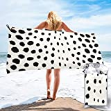 Chic Black White Cheetah Print Pattern Quick Dry Beach...