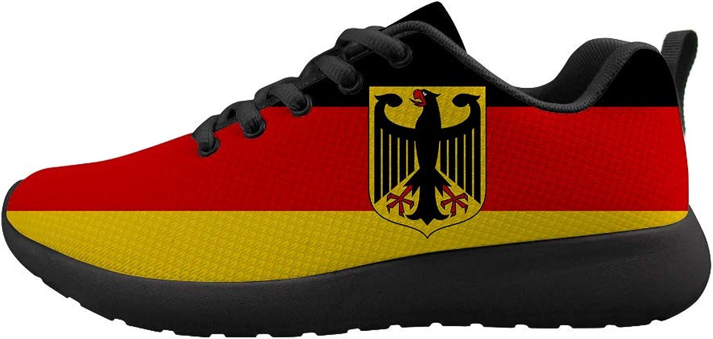 Owaheson Cushioning Sneaker Trail Running shoes Mens Womens German Flag Deutsche National Emblem