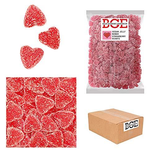 Bulk Gourmet Emporium - Corazones de goma de fresa con picapica, producto vegano, halal y sin envase de plástico, 2 kg