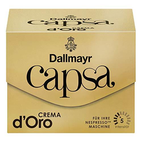 Dallmayr Capsa Crema d'Oro, Nespresso Kompatibel Kapsel, Kaffeekapsel, Röstkaffee, Kaffee, 10 Kapseln, 56 g