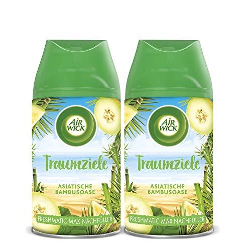 Air Wick Freshmatic Max Raumspray – Nachfüller für den Air Wick Freshmatic Max – Duft: Asiatische Bambusoase – 2 x 250 ml Nachfüller