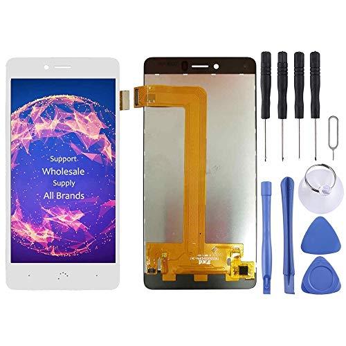 Piezas de reparación de teléfonos móviles Pantalla LCD y ensamblaje Completo del digitalizador for BQ Aquaris U/U Lite/U Plus (Color : Blanco)