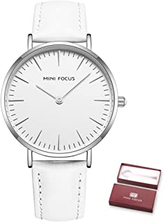 MINI FOCUS Women Quartz Watch Women's Fashion Watches with Leather Strap 3ATM Waterproof Female Wristbands for Business & ...