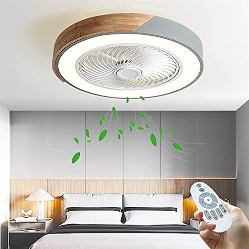 Ventilador de techo con control remoto ligero LED Dimmable Moderno Moderno 3 Color Cambio de 3 velocidades Lámpara de ventilador de 3 velocidades para sala de estar Dormitorio Comedor