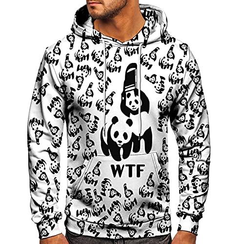 SSBZYES Camisas Deportivas para Hombres Sudaderas con Capucha para Hombres Otoño E Invierno Tops Casuales para Hombres Pullover Suéter con Capucha Patrón De Panda Abrigo Superior para Parejas