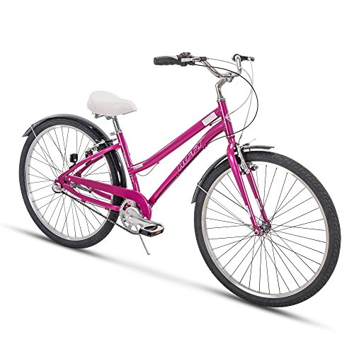 Huffy Womens Commuter Bike, Hyde Park 27.5 inch 3-Speed, Lightweight