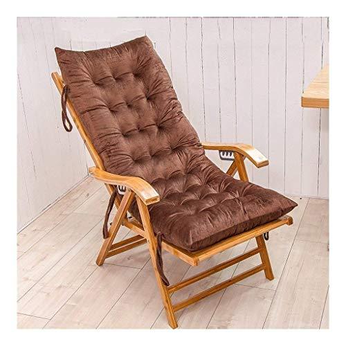 N /A Coussin de chaise longue, épaississant pour chaise longue, chaise pliante, chaise pliante, chaise (couleur : bleu, taille : 125 x 48 cm), marron, 125*48cm