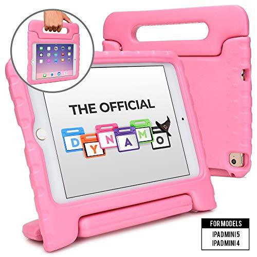 Cooper Dynamo [Estuche Resistente para niños] Funda Protector para iPad Mini 5 4 | Carcasa Tableta, Soporte, manija, Protector Pantalla (Rosa)