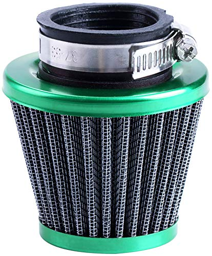 CNCMOTOK 38mm Air Filter GY6 50cc Scooter Moped for SSR Apollo 125 110cc 125cc Coolster Pit Bike Motorcycle ATV Quad QMB139 Engine Parts (Green)