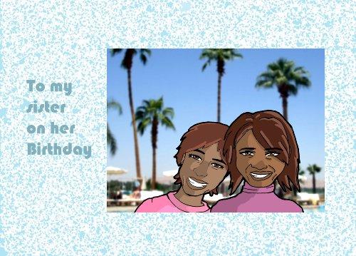 Sky Blue Greetings verjaardagskaart voor zus