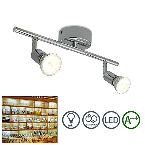 fsders 2X LED lampada da soffitto a 2luci, in alluminio, 2luce faretto da soffitto