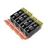 4 Cartouches d'Encre pour imprimante Canon Pixma iP4850 iP4950 iX6550 MG5150 MG5250 MG5300 MG5320 MG5350 MG6150 MG6250 MG8150 MG8170 MG8220 MG8250 MX715 MX885 MX895. Noir, par PerfectPrint
