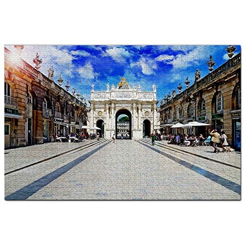 Francia Place Stanislas Nancy Puzzle 1000 Piezas para Adultos Familia Rompecabezas Recuerdo Turismo Regalo