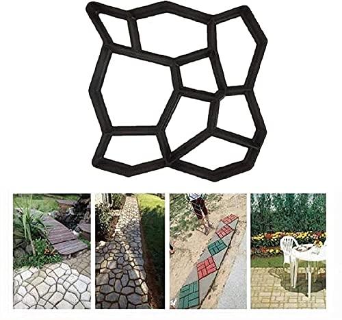 HGDH Piso Ruta Molde Reutilizable DIY Irregular Pavimentación Mortero Durable para Jardín Césped