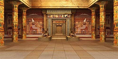 12x6ft Templo Egipcio Telón de Fondo de la Foto Photocall de Viaje Fondo de Pantalla de Fondo Antiguo Egipto Misterioso Ramses Anubis Patrimonio histórico Photo Studio Props