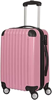 GLJJQMY Trolley Case 24 Inch Men and Women Suitcase 20 Inch Business Boarding PC Suitcase Trolley case (Color : Pink, Size : 24 inch)