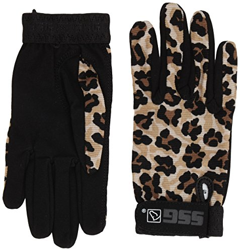 SSG All Weather Riding Gloves Ladies Small Leopard/Black