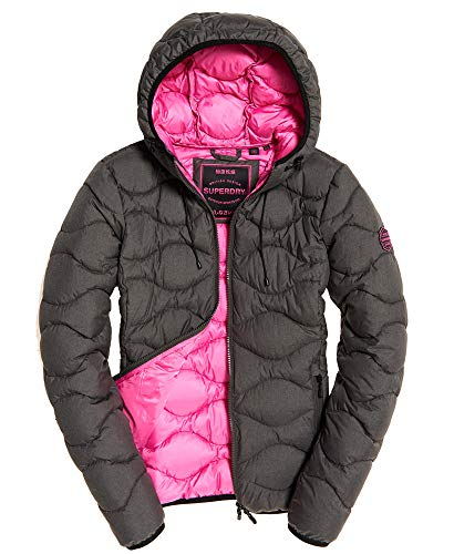 Superdry jas dames ASTRAE Quilt Padded Jacket Dark Grey