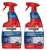 Magic Shower Door Cleaner - 28 Ounce - [2 Pack] Removes Soap Scum Mildew and Mold from Glass to Get a Crystal Streak-Less Shine