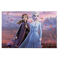 ジグソーパズル アナと雪の女王 (2) 1000ピース ジグソーパズル 環境保護、無臭、知的開発、親子ジグソーパズル!益智減圧 子供大人の大きなジグソーパズル おしゃれ 萌えグッズ 漫画の周辺 ギフトプ 75.5*50.3 Cm