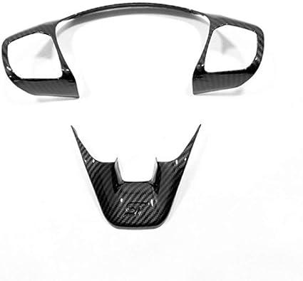 Garniture de Volant de Voiture en Fibre de Carbone ABS//Mat St BYWWANG pour Ford Fiesta MK8 2017 2018