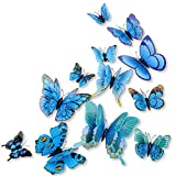 12PCS,mixed of 3D Pink Butterfly Perfect design. Roundly includes 2 large ones in size 12 cm, 2 medium ones in size 8-9 cm, and 8 small ones in size 7 cm. Application: Wall, door,Electrical appliances any smooth surface. It will Make your home more w...